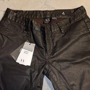 NWT Armani Exchange J22 Brown Leggings size 4